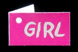 Kaartjes voor geboortebedankjes girl