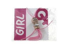 Gelukszakjes gelukspoppetje baby meisje met label Girl