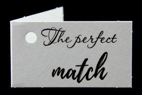 Kaartjes voor huwelijksbedankjes the perfect match