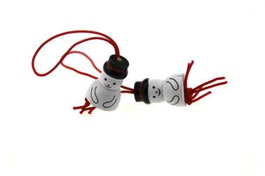 Gelukspoppetjes sneeuwpop