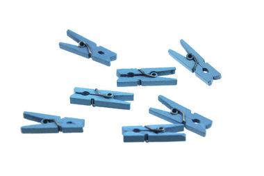 10 Wasknijpertjes Licht blauw