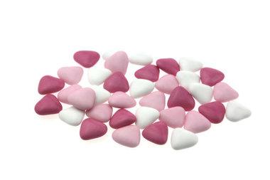 Bruidsuiker hartvormig mini mix Roze