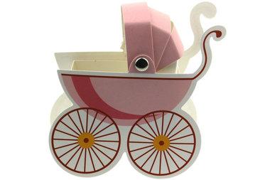 Doosje Kinderwagentje roze