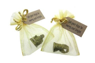 Gelukszakje kerst 3 cm boeddha en label