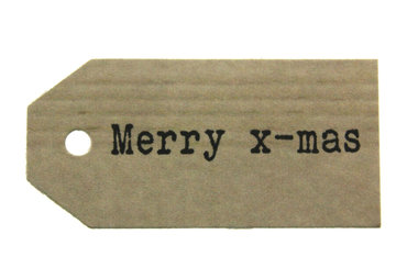 Kraft label merry x-mas