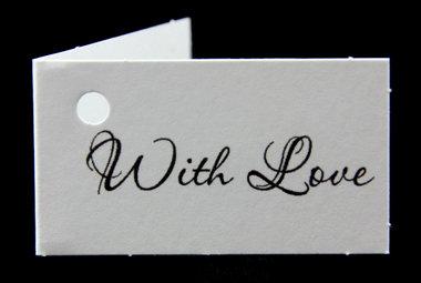 Kaartjes voor huwelijksbedankjes with love