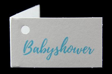 Kaartjes voor geboortebedankjes babyshower blauw