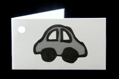 Kaartjes voor geboortebedankjes auto