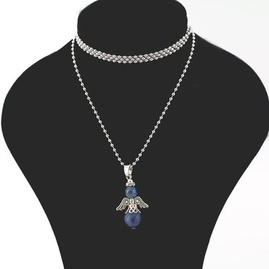 Ketting beschermengel lapis lazuli met kaart betekenis