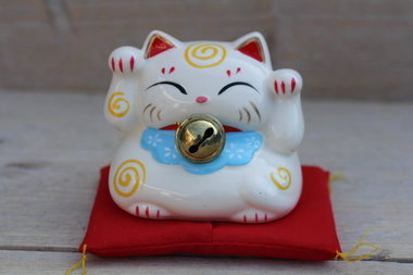 Lucky cat spaarpot blauw