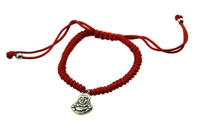 Armbandje rood boeddha bedel