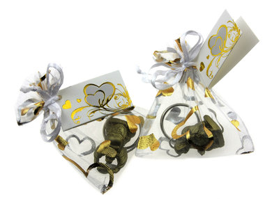 Huwelijksbedankje gouden lachende boeddha sleutelhanger