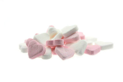 Hartjes roze - wit