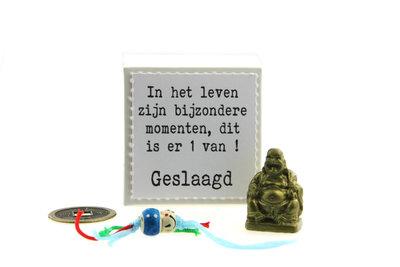 Geluksdoosje In het leven ... Geslaagd