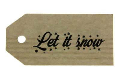 Kraft label let it snow