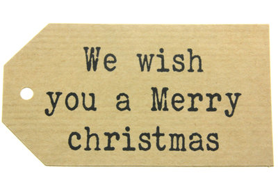 Kraft label xl we wish you a merry christmas