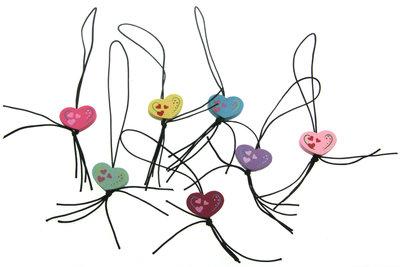 Gelukspoppetjes hartjes multicolor