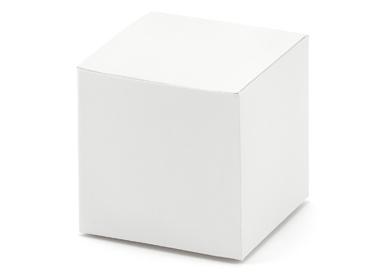 Doosje kubus gebroken wit