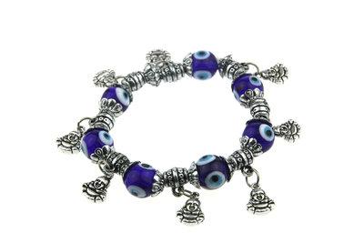 Armband boeddha & blauw boze oog