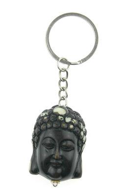 Boeddha hoofd sleutelhanger