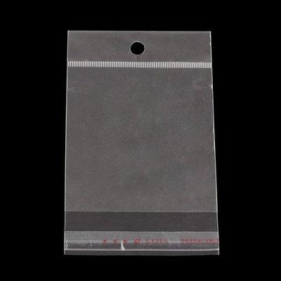 10 cellofaan zakjes 8 x 12 cm MET OPHANGOOG