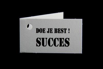 Kaartjes doe je best! succes 10 stuks