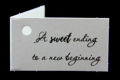 Kaartjes voor huwelijksbedankjes a sweet ending to a new beginning