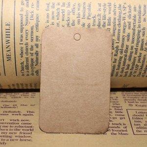 Kraft label rechthoek 4 x 6 cm 10 stuks