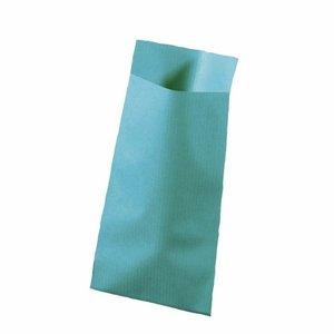 Papieren zakjes licht blauw 7 x 13 cm 10 stuks
