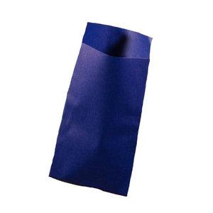 Papieren zakjes blauw 7 x 13 cm 10 stuks