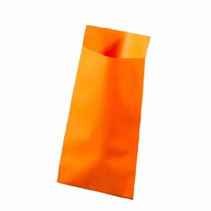 Papieren zakjes oranje 7 x 13 cm 10 stuks