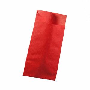 Papieren zakjes rood 7 x 13 cm 10 stuks