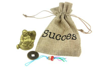 Jute gelukszakje succes