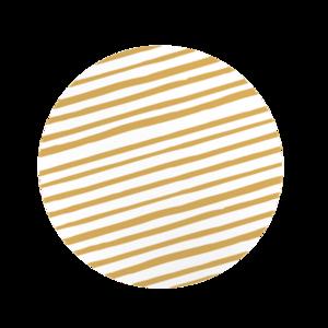 Ronde stickers wit met gouden strepen 10 stuks