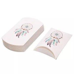 Gondeldoosje wit met dromenvanger afbeelding pastel kleuren