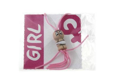 Gelukszakje gelukspoppetje baby meisje met label Girl