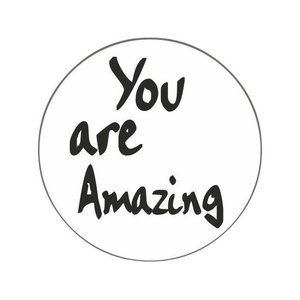 Ronde stickers you are amazing 10 stuks