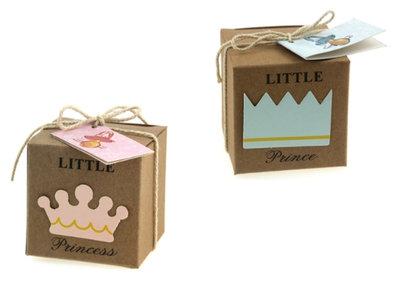 Geboortebedankjes little prince princess