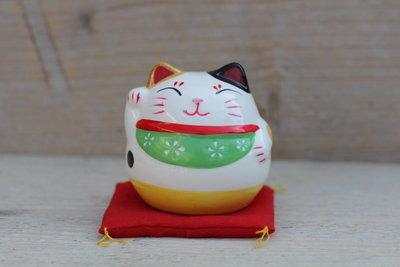Lucky cat spaarpot Groen