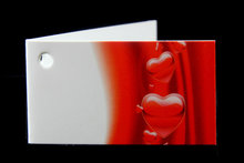 Kaartjes voor huwelijksbedankjes hartjes rood